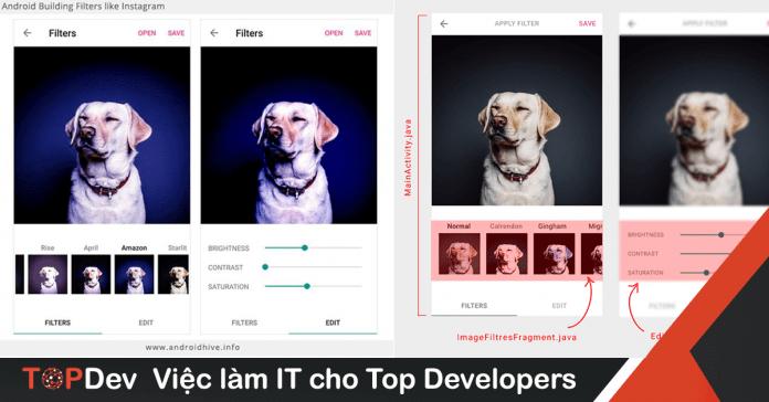 Xây dựng bộ lọc hình ảnh như Instagram