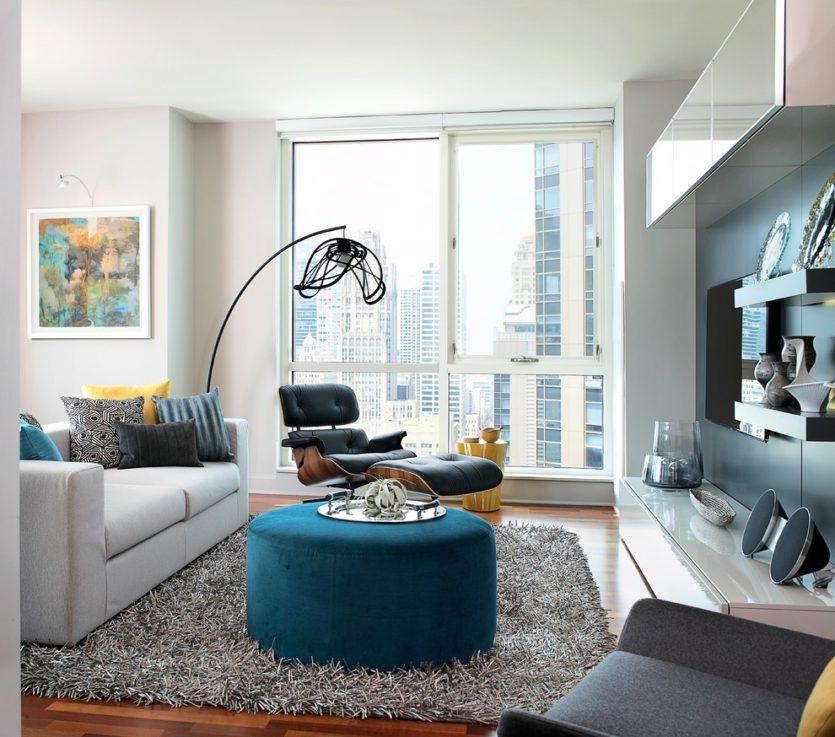 75329064929c Štýlový dizajn obývacej izby. Obývacia izba s kuchyňou. Hlavné črty  moderného interiéru