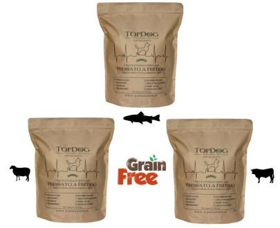 cibo naturale per cani grain free