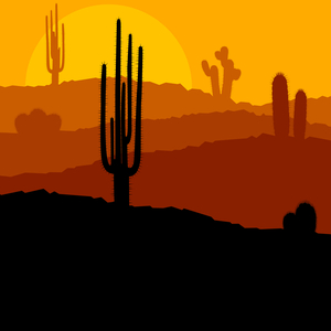 An image of a peaceful Arizona desert, representing the balance of quality content, legal ethics, and SEO that are the hallmarks of a TOPDOG Arizona attorney marketing plan.