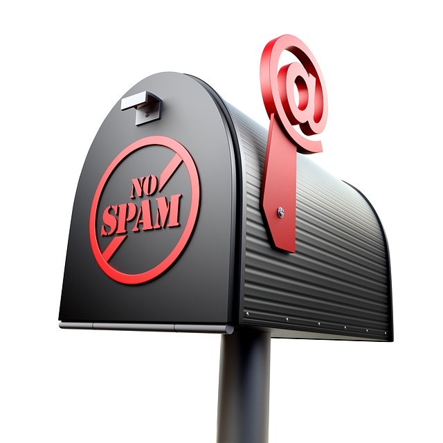 "A picture of a mailbox with an @ symbol instead of a flag, with the words ""No spam"" in a circle crossed out diagonally, representing how TOPDOG Legal Marketing, LLC can help keep ethics top of mind when considering law firm marketing and Arizona's anti-spam law."