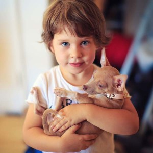 child responsible for a dog