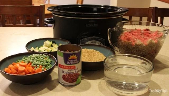 Beef and Rice Crock Pot Dog Food Recipe