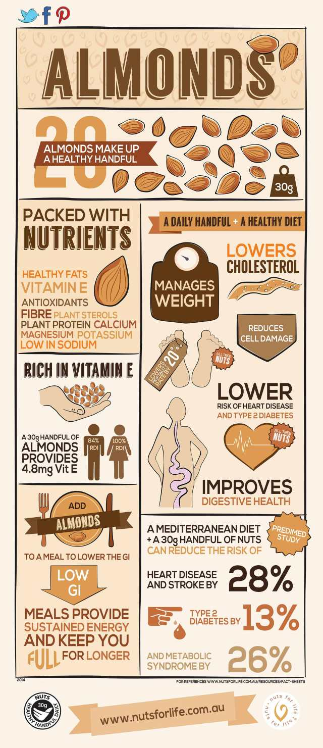 Health benefits of almonds for dogs infographic