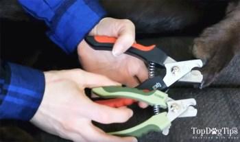 Scissor style dog nail clipper
