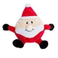 ZippyPaws Holiday Brainey Santa Squeaky Plush Dog Toy