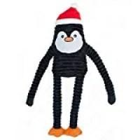 ZippyPaws Holiday Crinkle Squeaky Penguin Plush Dog Toy