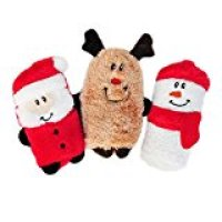 ZippyPaws Holiday Squeakie Buddies Squeaky Dog Toy