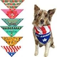 Stonehouse Collection 6-pc Holiday Dog Bandana