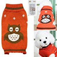 Bolbove Pet Cute Owl Cable Knit Turtleneck Sweater