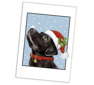 Retro Santa Labrador Christmas Cards