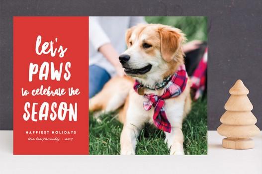 Let's Paws To Celebrate The Season Christmas Dog Card