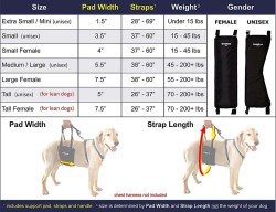 How to measure for dog sling harness