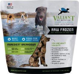 Valiant Pet Nutrition Raw Frozen Adult Dog Food