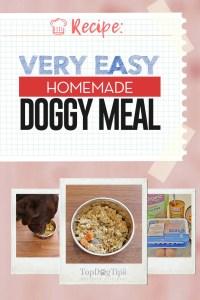 Very Easy Homemade Dog Food Meal Recipe