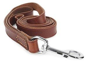 IMK9 Leather Leash with Dual Handle