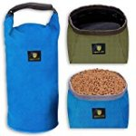 Awakelion Food Container and Collapsible Dog Bowl