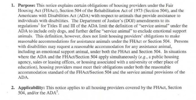 Fair Housing Act for Emotional Support Dogs