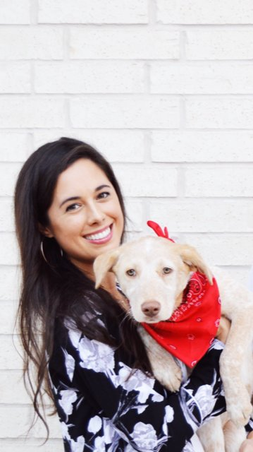 Hailee Graham with her dog Tate