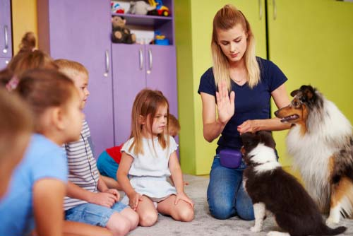 Teaching kids how to behave with dogs