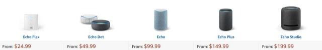 Compare Amazon Alexa Echo Devices