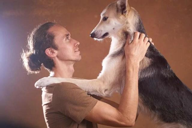 Hug Me dog trick