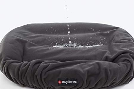 water spilled on dog bed cover