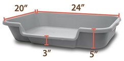 PuppyGoHere Dog Litter Pan Indoor System by PuppyGoHere