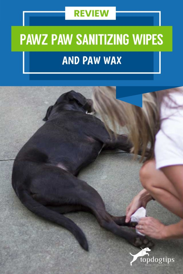 Review- Pawz Paw Sanitizing Wipes and Paw Wax