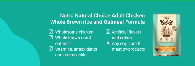 Nutro Natural Choice Adult Chicken, Whole Brown rice and Oatmeal Formula
