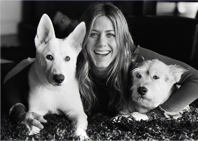 Jennifer Aniston and Rescue Dogs, Sophie and Dolly