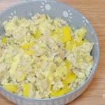 Vegetable omelette for dogs