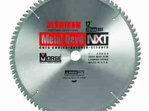 MK Morse 101653 NXT Stainless Steel Circular Saw Blade, 12-Inch Diameter, 1-Inch Arbor, 80 Teeth