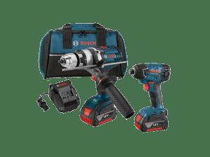 Bosch CLPK224-181 - 2-Tool Combo Kit: HDH181X Brute Tough Hammer Drill Driver