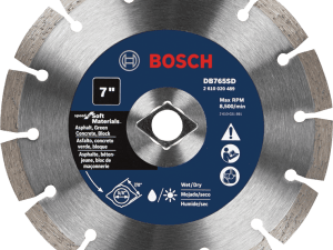 Bosch DB765SD 7 In. Standard Segmented Rim Diamond Blade with DKO for Soft Materials