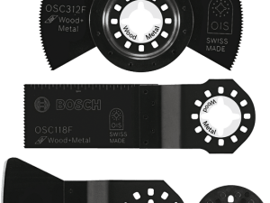 OSC3S Oscillating Multi-Tool Accessory Set 4 Pc. with Wood & Metal Blades, Scraper and OIS™ Adapter