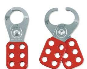 Steel Lockout Hasp, 1in (25mm) Jaw