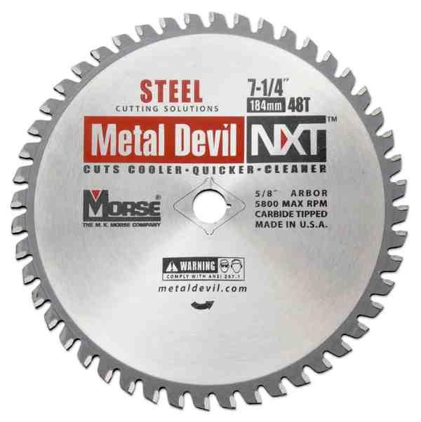 Morse 7 1/4X5/8   METAL DEVIL NXT   CIRCULAR  SAW BLADE