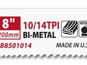 Morse 8   10/14 TOOTH   BI-METAL   RECIPROCATING   SAW BLADES   (PKG)