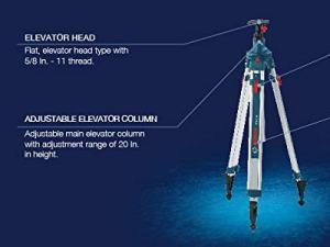 Bosch BT300HD Alum Heavy Duty Elevator Quick Clamp Tripod