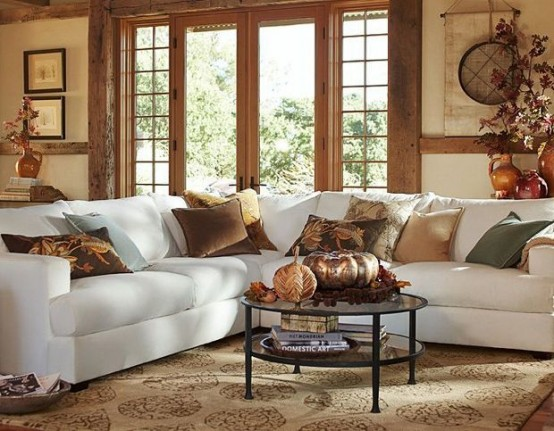Fall Themed Living Room Designs