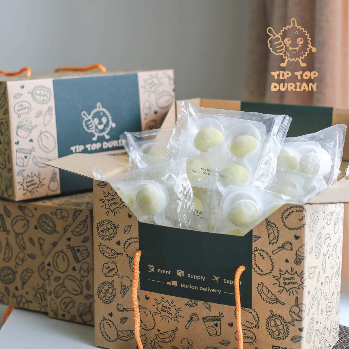D24 Mochi 10 Packs (8) | Tip Top Durian Delivery | Malaysia Top Fresh Durian Online Delivery