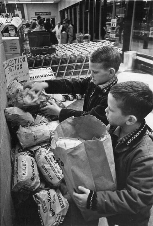 Topekans helped fundraise for the Animals and Man building by collecting bread wrappers. Animals and Man opened in 1966.