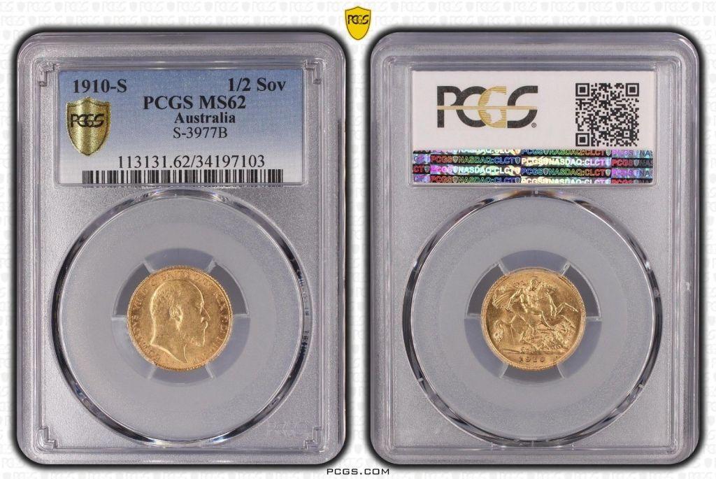 Australia 1910 Sydney Half Sovereign PCGS MS62