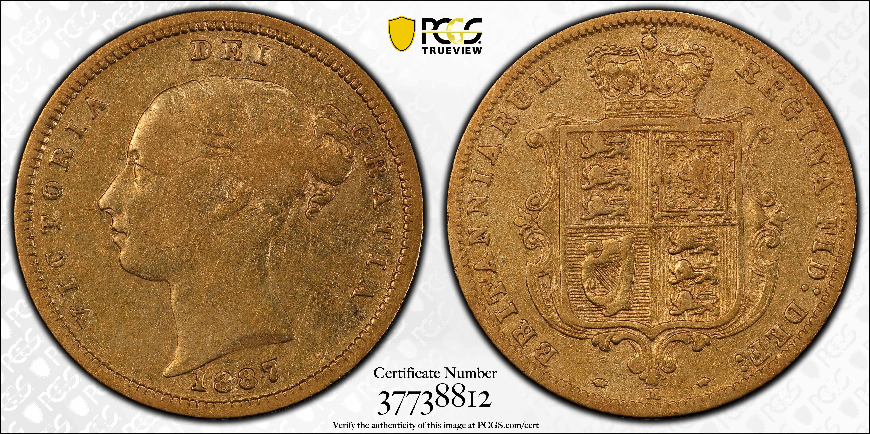 Australia 1887 Melbourne Half Sovereign PCGS VF35