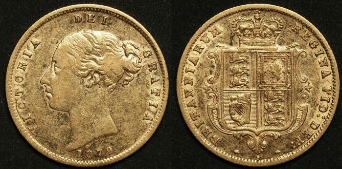 Australia 1879 Sydney Half Sovereign EF