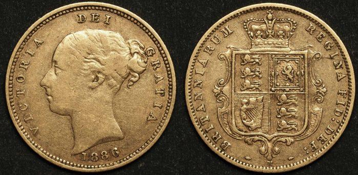 Australia 1886 Melbourne Half Sovereign VF