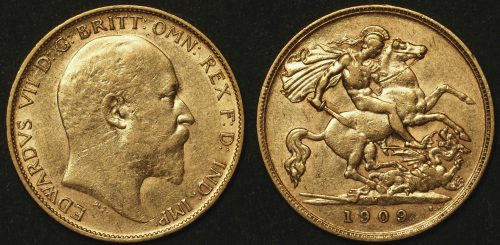 Australia 1909 Melbourne Half Sovereign VF