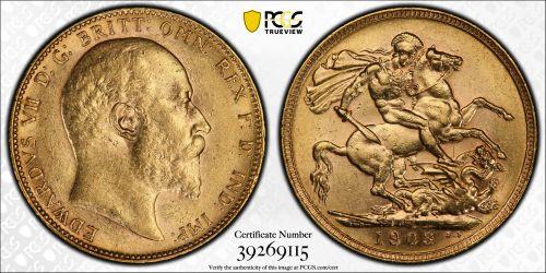 Australia 1903 Perth Sovereign PCGS MS61