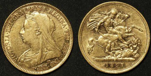 Australia 1897 Sydney Half Sovereign VF Details